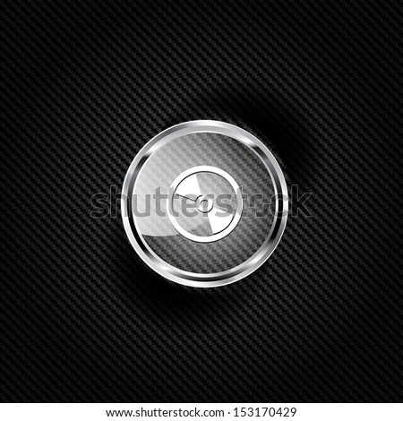 Compact disk web icon - stock photo