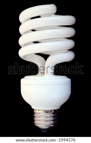 compact fluorescent efficient power saving light bulb - stock photo