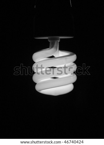 Compact fluorescent energy saving light bulb