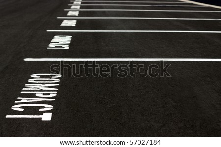 Compact Parking Spaces - stock photo