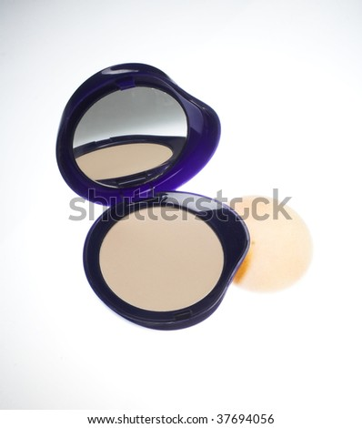 Compact powder in dark blue box