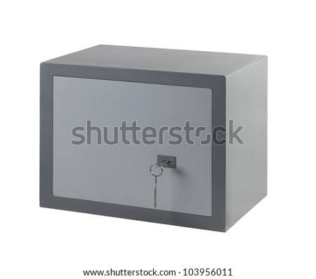 Compact secure safe - stock photo