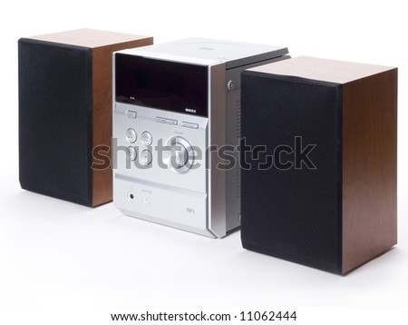 Compact system with CD player