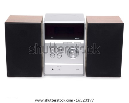 Compact system with CD player - stock photo
