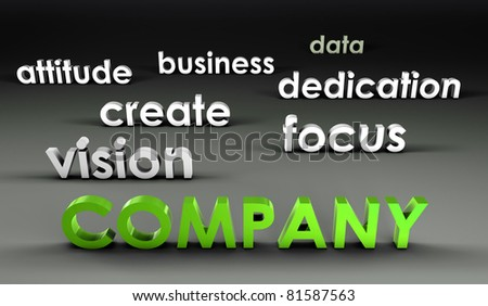 Company at the Forefront in 3d Presentation - stock photo