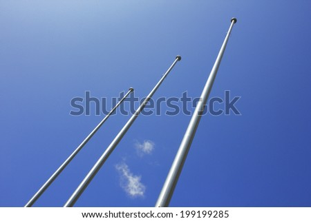 Company Flag Hoisted Pole In The Outside
