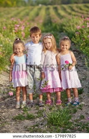 Company Kids Outdoors - stock photo