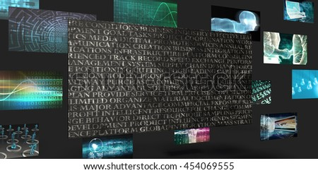 Company Vision Sales and Marketing Abstract Concept 3D Illustration Render - stock photo