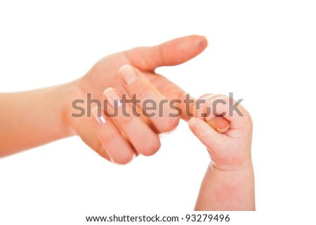 Comparision of adult and infant hands