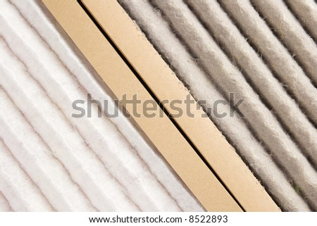 Comparison between a very dirty and a clean air filter