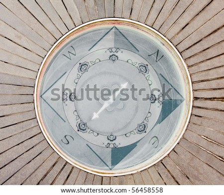 Compass at the china town metro station in Los Angeles, California, USA - stock photo
