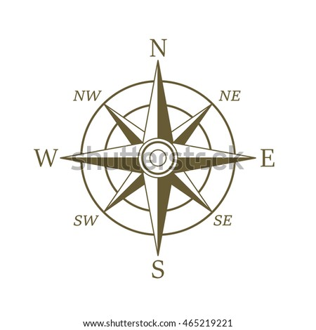 Compass Wind Rose Hand Drawn Vector Stock Vector 194684759 ...
