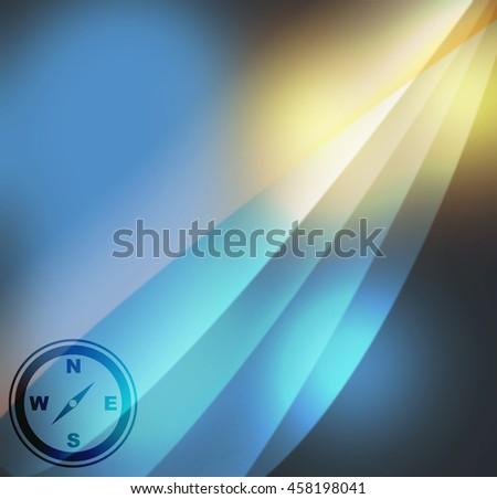 compass icon  on abstract background - stock photo