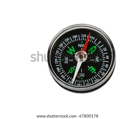 compass isolated on white - stock photo