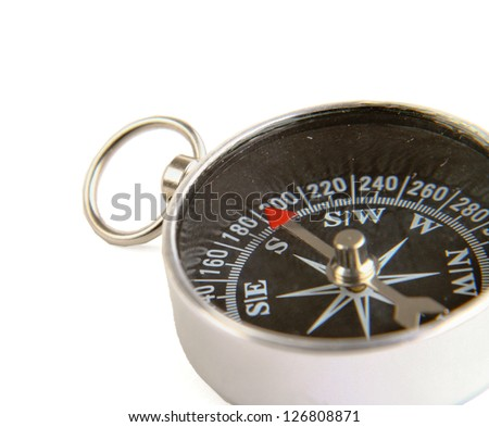 Compass , isolated on white background - stock photo