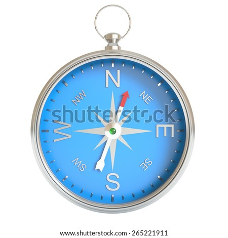 Compass isolated on white background. 3d illustration high resolution