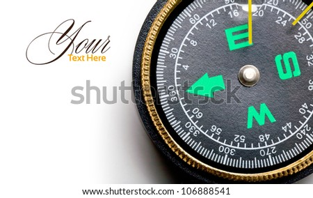 compass isolated over white background