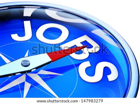 compass jobs - stock photo