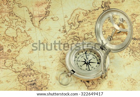 Compass on old world map stock photo royalty free 322649417 compass on old world map stock photo royalty free 322649417 shutterstock gumiabroncs Image collections