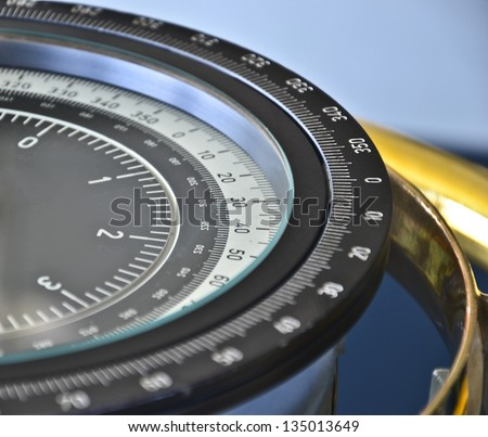 Compass on a ship - stock photo
