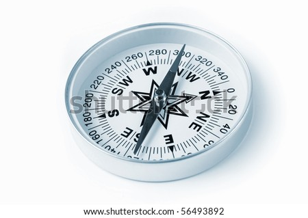 Compass on a white background - stock photo