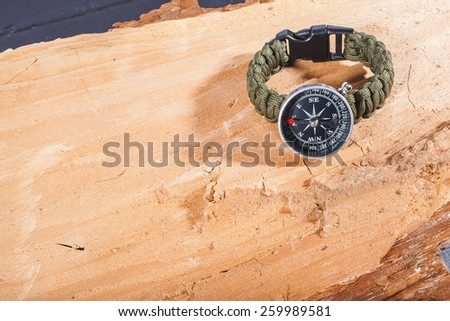 compass on board - stock photo