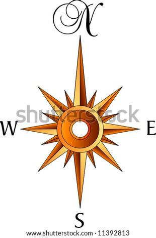 compass rose - stock photo