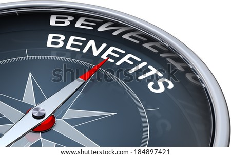 compass with a benefits icon