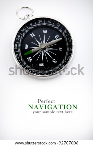 compass with black dial - stock photo