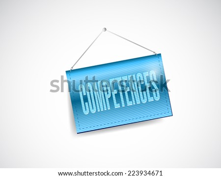 competences banner illustration design over a white background - stock photo