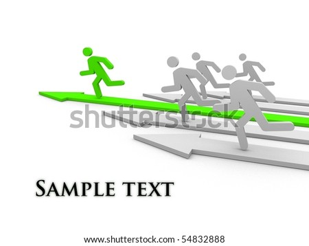 Competition. Concept. 3d illustration. - stock photo
