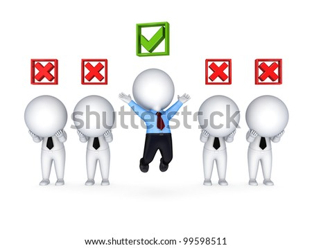 Competition concept.Isolated on white background.3d rendered. - stock photo