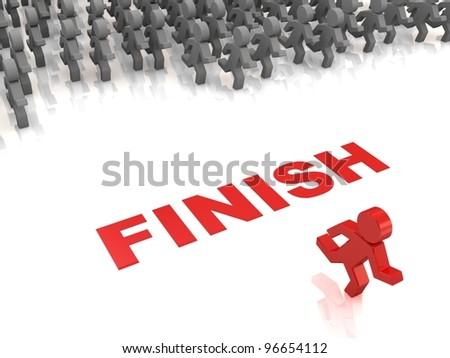 Competition. Concept. Way to success - stock photo