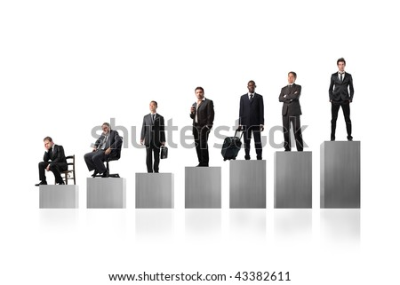 competition for business man - stock photo