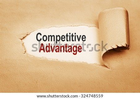 Competitive Advantage message text - stock photo