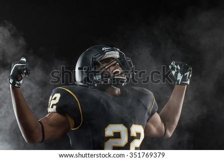 Competitive Football Player  - stock photo