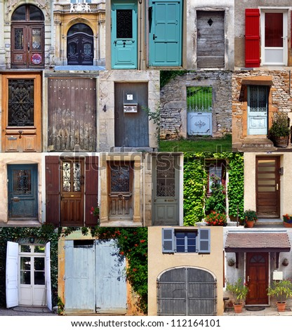 Compilation of old doors (French)