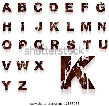 Myper 39 s portfolio on shutterstock - Alphabet complet ...