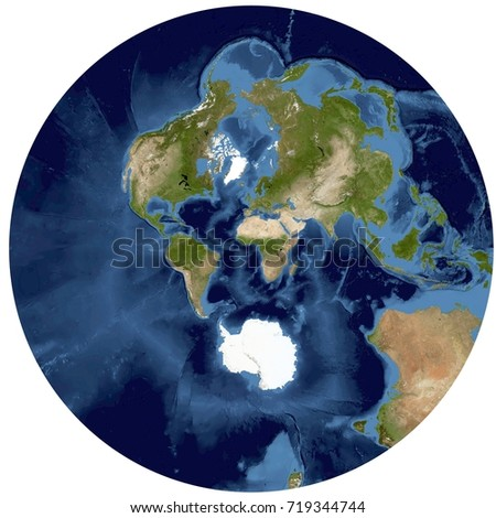 Complete earth view space high resolution stock illustration complete earth view from space high resolution world map illustration in stereographic projectiondata gumiabroncs Gallery