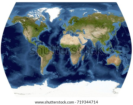 Complete earth view space high resolution ilustracin de complete earth view from space high resolution world map illustration in world times projection gumiabroncs Gallery