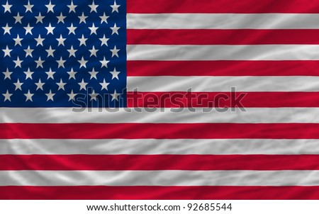 complete national flag of us covers whole frame, waved, crunched and very natural looking. It is perfect for background