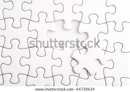 Complete the missing jigsaw puzzle piece, business concept for completing the final puzzle piece - stock photo