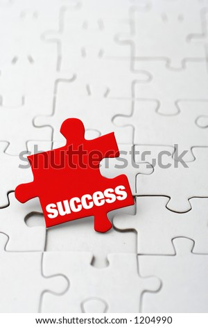 complete the puzzle - stock photo