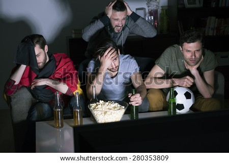 Completely disaster! They were so close to winning... - stock photo