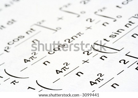 complex math, engineering mathematics make confusing reading - stock photo