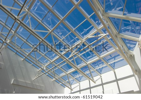 Complex modern roof - stock photo