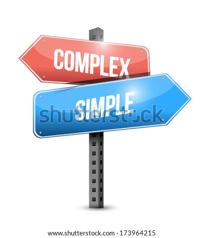 complex, simple sign illustration design over a white background - stock photo