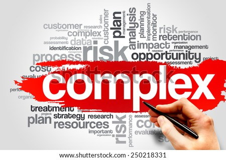 Complex word cloud, business concept - stock photo