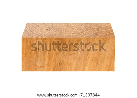 component of oak wood isolated on a white background - stock photo