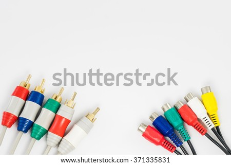 component video and audio cable - stock photo